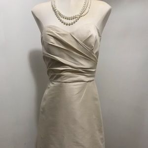 Alfred Sung strapless champagne cocktail dress